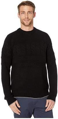 Obermeyer Textured Crew Neck Sweater (Black) Men's Sweater