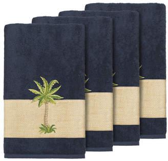 Linum Home Turkish Cotton Colton 4-Pc. Embellished Bath Towel Set Bedding