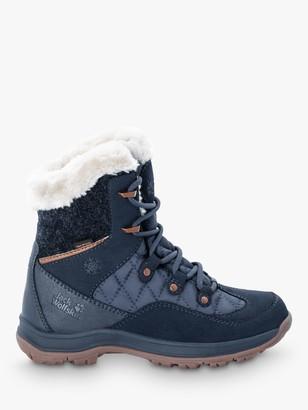 Jack Wolfskin Aspen Texapore Women's Mid Waterproof Winter Boots, Dark Blue / Blue