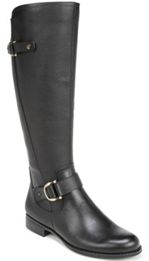 Naturalizer Jillian Leather Wide Calf Riding Boots Women's Shoes