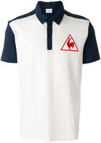 Le Coq Sportif tricolour tennis polo shirt