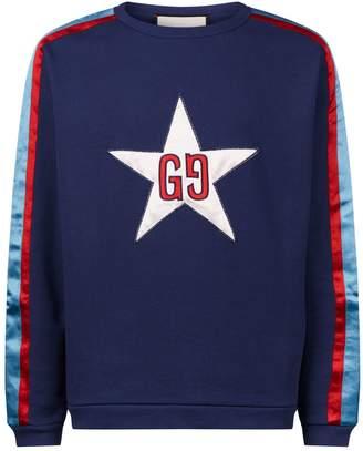 Gucci GG Star Embroidery Sweatshirt