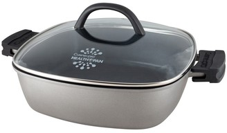 Cuisinepro Health Pan Non-Stick Casserole 28cm with Glass Lid and 2 x BONUS Silicone Pot Holders