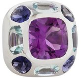 Chanel 18K Amethyst, Aquamarine & Iolite Baroque Ring