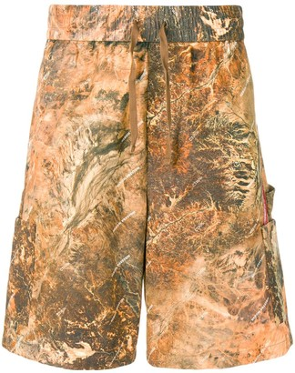 Heron Preston Printed Cargo Shorts