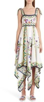 Dolce & Gabbana Women's Print Silk Handkerchief Hem Dress
