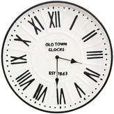 "Parker Stratton Home 16"" Metal Enamel Wall Clock"