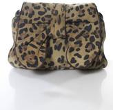 3.1 Phillip Lim Brown Leather Animal Print Bow Front Cross Body Handbag