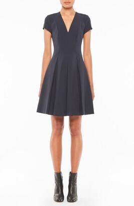 Emporio Armani V-Neck Short Sleeve Fit & Flare Dress