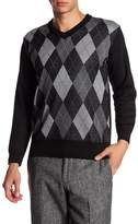 Burnside Argyle V-Neck Sweater
