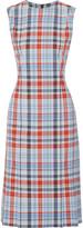 Thom Browne Plaid twill midi dress