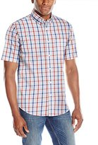 Dockers Short Sleeve Check Button Down Collar Shirt