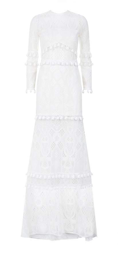 Alexis Thora Sheer Lace Gown