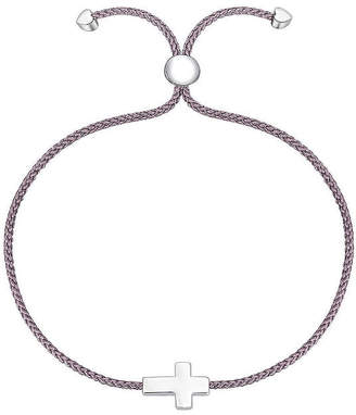 Footnotes Into The Wild Sterling Silver Braid Cross Bolo Bracelet