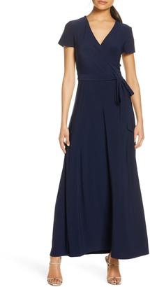 Eliza J Faux Wrap Maxi Dress