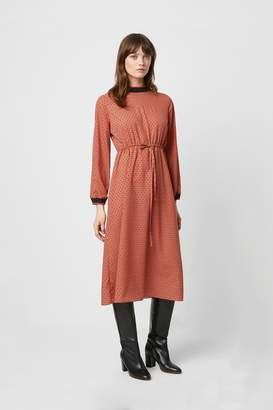 French Connection Caprice Long Sleeve Drawcord Waist Dress