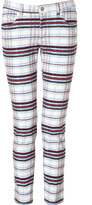 See by Chloe White-Multi Plaid Jeans
