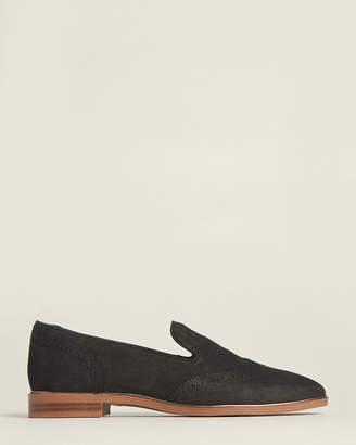 Franco Sarto Black Haydrian Brogue Leather Loafers