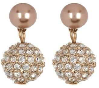 Carolee Small Imitation Pearl Double Drop Earrings