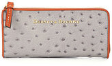 Dooney & Bourke Ostrich-Embossed Zip Clutch