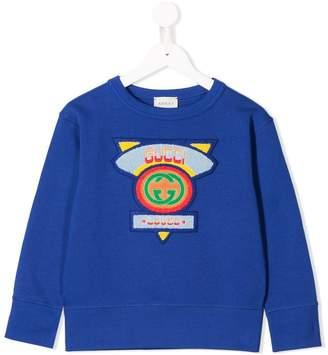 Gucci Kids logo patch sweatshirt