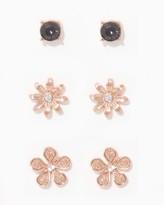 Charming charlie Blossom Stud Earring Trio