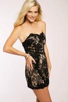 Jovani Embellished Lace Strapless Fitted Cocktail Dress JVN98611