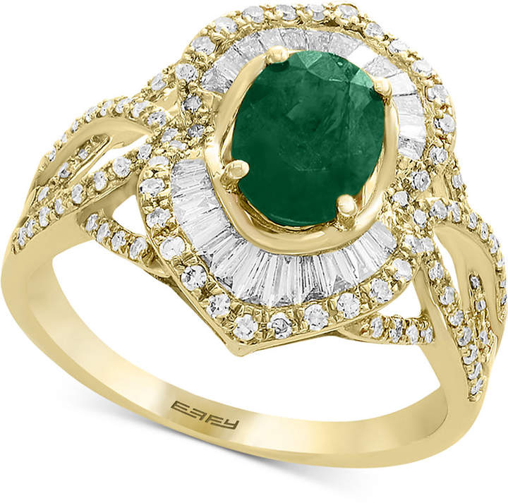 Effy Brasilica by Emerald (1-1/8 ct. t.w.) & Diamond (5/8 ct. t.w.) Ring in 14k Gold