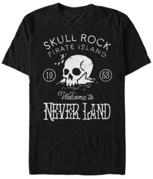 Disney Men's Peter Pan Skull Rock Vintage Inspired, Short Sleeve T-Shirt