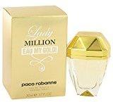 Paco Rabanne Lady Million Eau My Gold by Eau De Toilette Spray 1.7 oz -100% Authentic by
