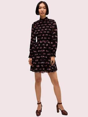 Kate Spade Love Birds Smocked Dress