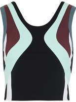 NO KA 'OI No Ka'Oi - Lepo Color-block Stretch Sports Bra - Black