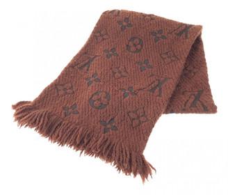 Louis Vuitton Logomania Brown Wool Scarves