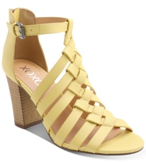 XOXO Baxter Strappy Block-Heel Sandals Women's Shoes