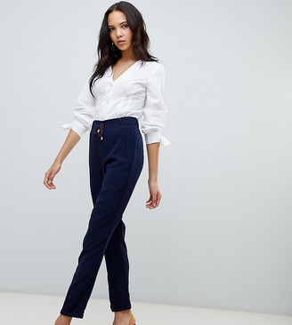 Vero Moda Tall Drawstring Relaxed PANTS-Navy