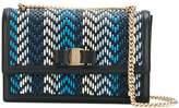 Salvatore Ferragamo woven panel shoulder bag