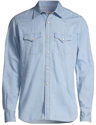 Eleventy Denim Western Shirt