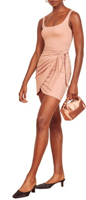 Reformation Wrap Front Sleeveless Minidress