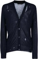 Alexander McQueen distressed cardigan - men - Silk/Wool - S