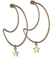 BCBGeneration Cubic Zirconia Moon And Star Charm Earrings
