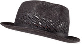 Paul Smith Men's Perforated Straw Panama Trilby Hat