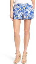 KUT from the Kloth Women's Gabrielle Print Linen Shorts