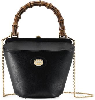 Gucci Mini Bamboo Bucket Bag With Chain
