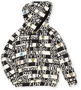 Fendi Boys' Allover Words Graphic Hooded Sweatshirt, Size 10-14