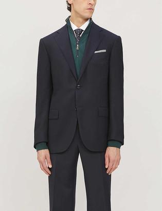Corneliani Single-breasted wool suit jacket