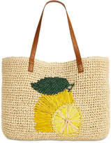 INC International Concepts I.n.c. Gabyy Lemon Extra-Large Beach Tote, Created for Macy's