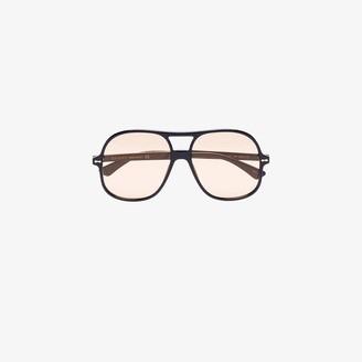Gucci Black aviator tinted sunglasses