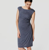 LOFT Petite Maternity Flecked Side Shirred Dress