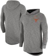 Nike Men's Heather Gray Texas Longhorns 2019 Sideline Long Sleeve Hooded Performance Top