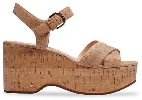 Kate Spade Jasper Cork Platform Wedge Sandals